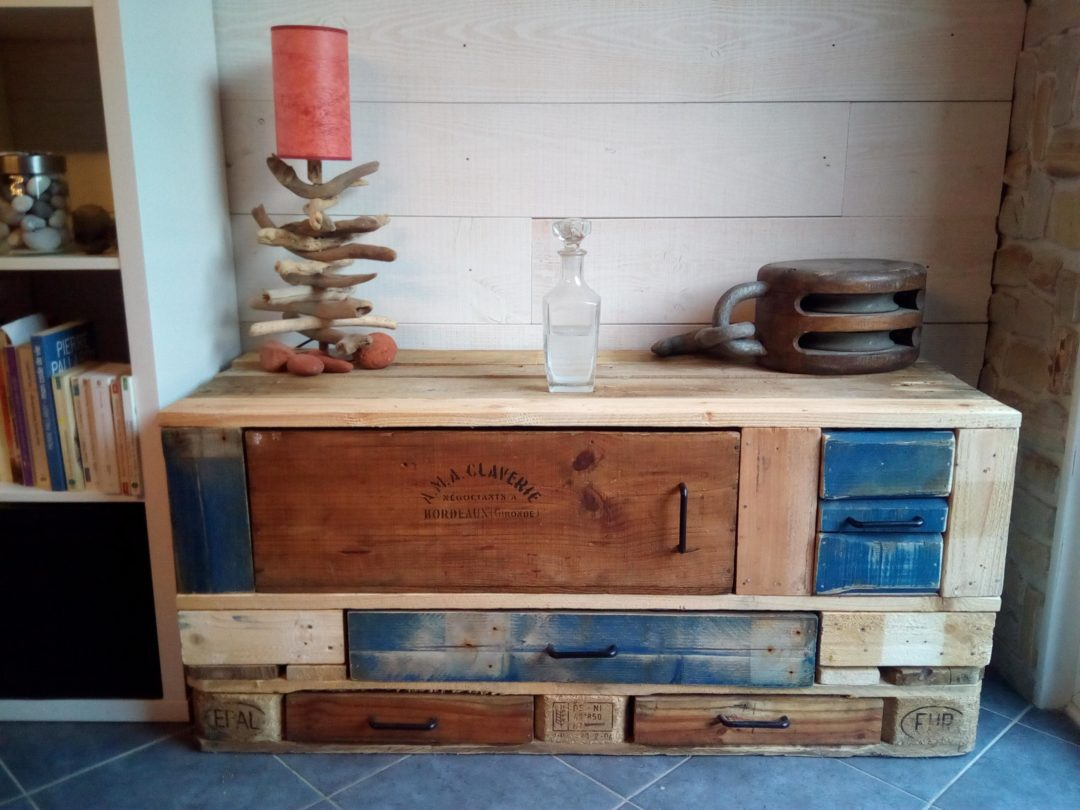 meuble buffet bas (meuble en palette)
