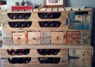 Rangement pour bouteille de vin
