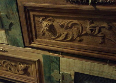 vaisselier faire du neuf avec du vieux détail d'un tiroir