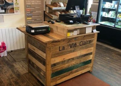 mobilier magasin bio caisse