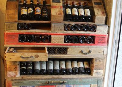 Vaisselier range bouteille Café