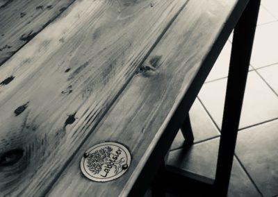 petite table en bois recycle
