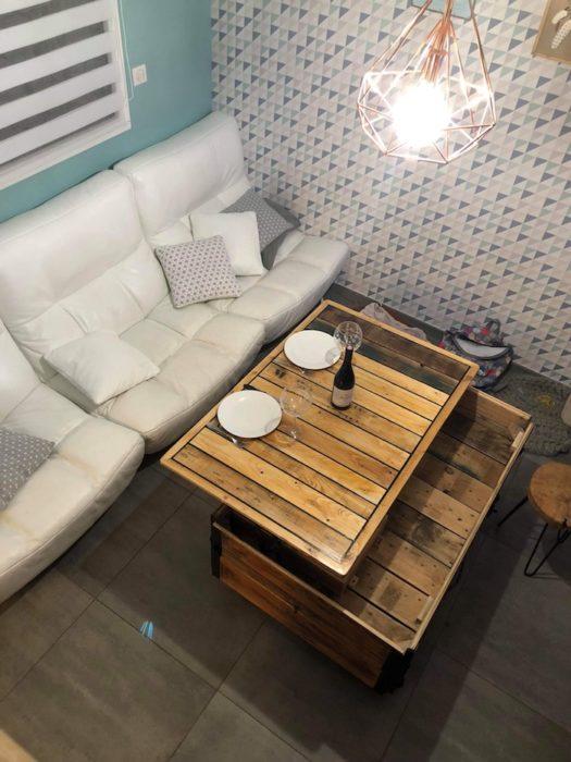 Table basse avec plateau relevable meubles laboisier - Table haute et basse ...