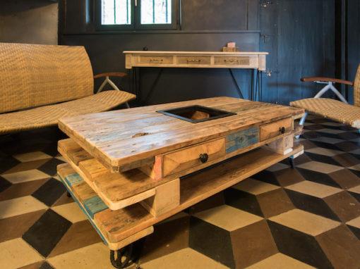 Table basse en bois recyclé démontable