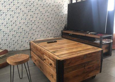 table basse plateau fermé