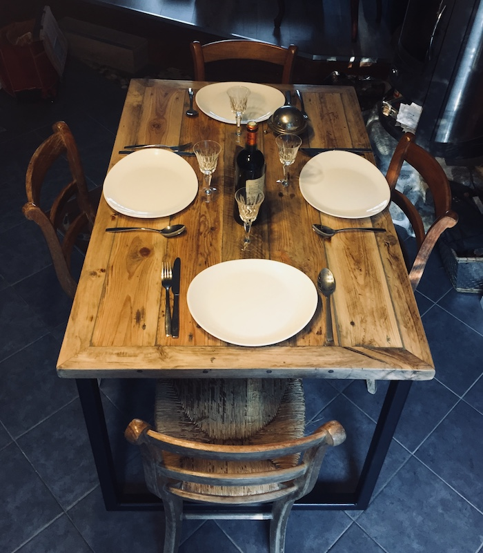 table en bois recycle