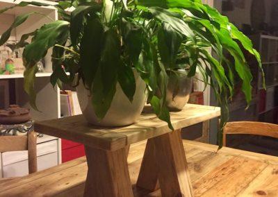 tabouret bas, porte plante