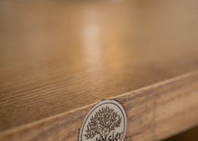 table eco responsable avec rallonge, logo laboisier