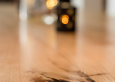 table eco responsable avec rallonge, vue resine