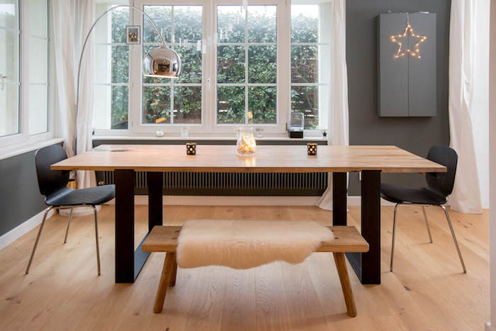 table eco responsable avec rallonge