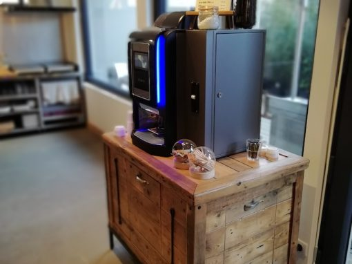 Meuble pour machine à café