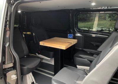 plateau de table de camping car plié