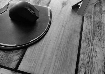 bureau avec armoire, detail