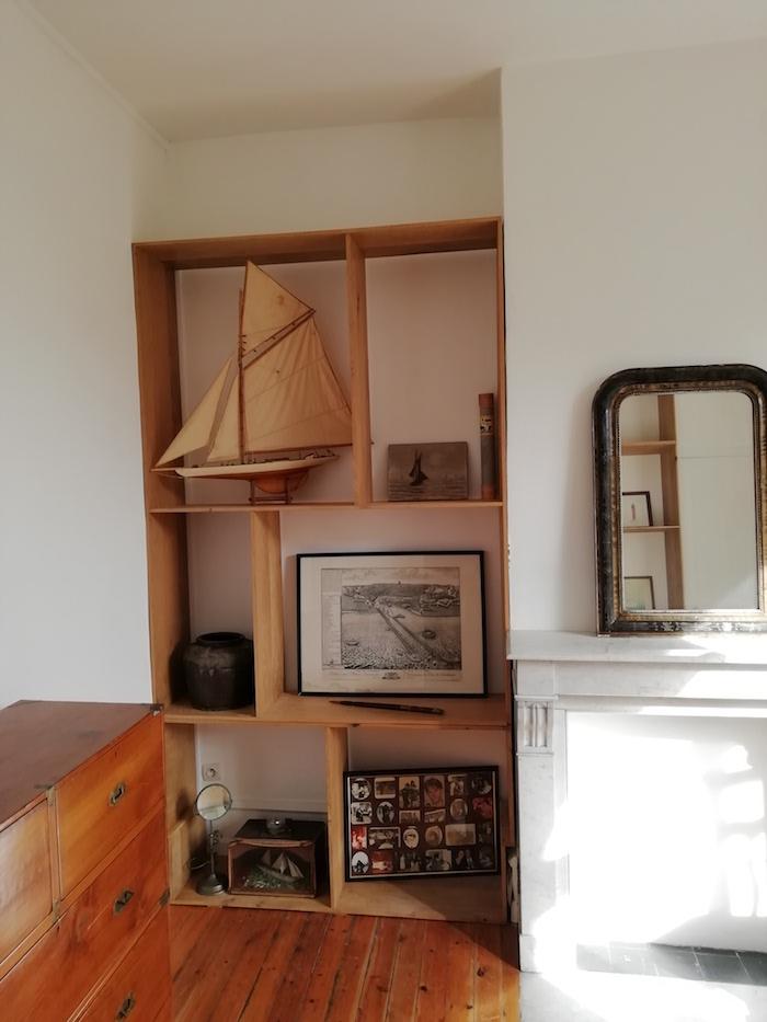 Bibliothèque bois sur mesure