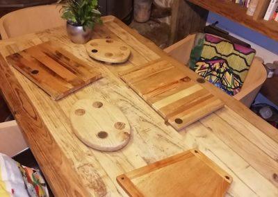 dessous de plat en bois recyclé