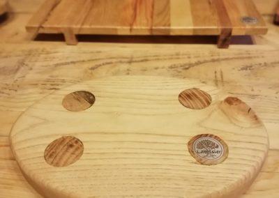 dessous de plat en bois, rond