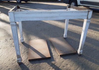 table en chene upcyclée, état