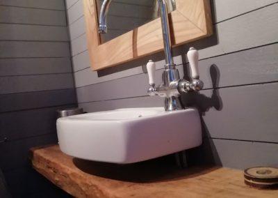 meuble pour vasque, détail