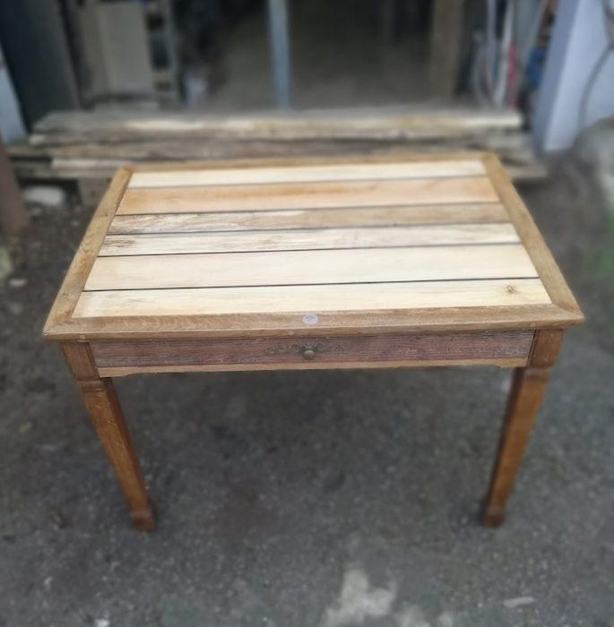 table en chêne upcyclée
