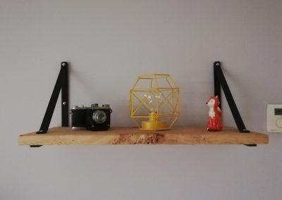 ensemble meubles tv en bois recyclé, étagère