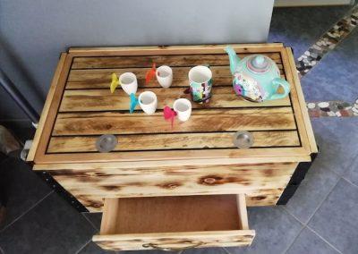 table basse relevable avec rangement, tiroir
