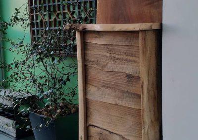petit vaisselier en bois recyclé, coté