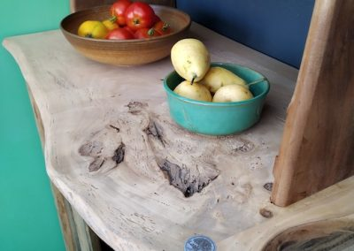 petit vaisselier en bois recyclé,plateau