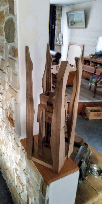 sculpture en bois, coté