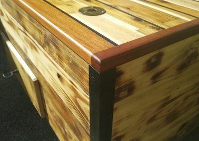 table basse bar relevable, coté