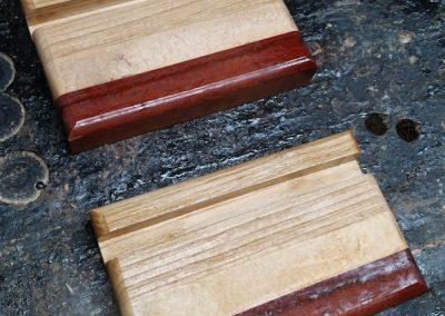 support téléphone en bois, paire